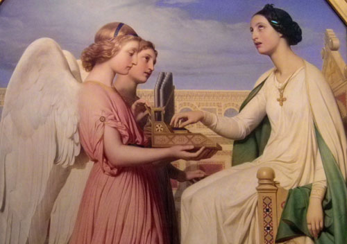 St Cecilia and the Angels by Paul Delaroche 1836