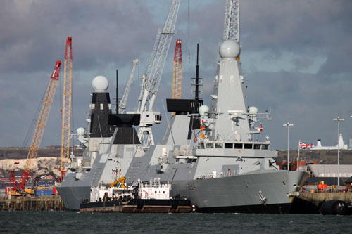 HMS Diamond (D34) launched in 2007